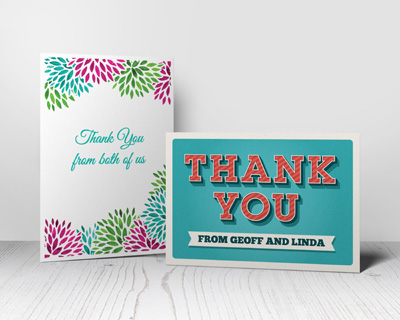 Thank You Cards Putty Print
