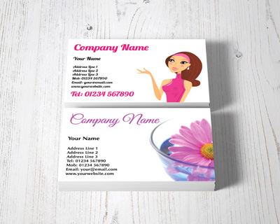health and beauty business cards