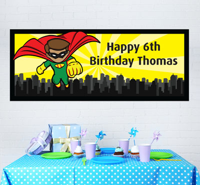 boys party banners