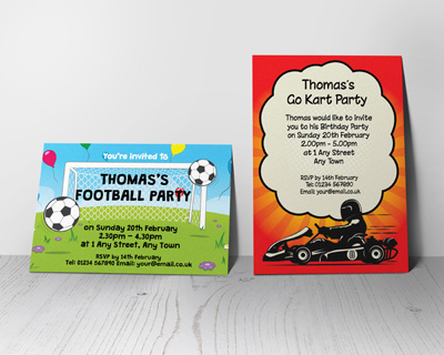 boys party invitations