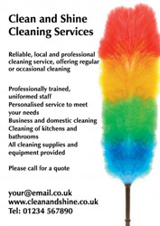 colourful feather duster leaflets