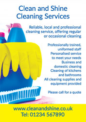 yellow cleaning gloves leaflets