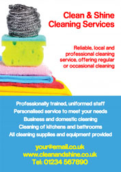 cleaning scourer leaflets