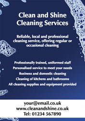 washing bubbles leaflets