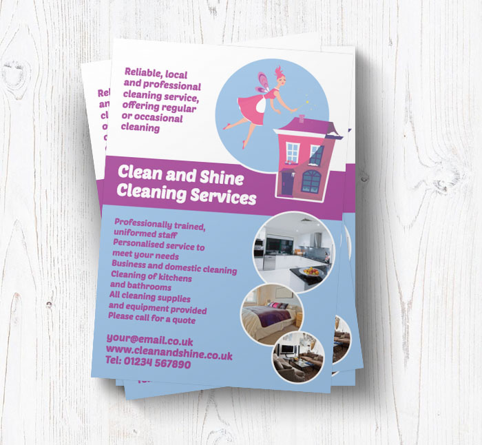 cleaning fairy leaflets