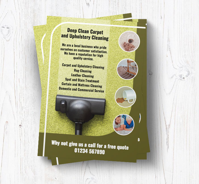domestic carpet cleaning leaflets