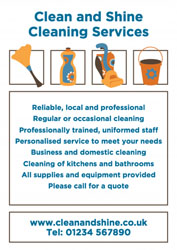 home cleaning leaflets