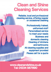pink cleaning gloves leaflets
