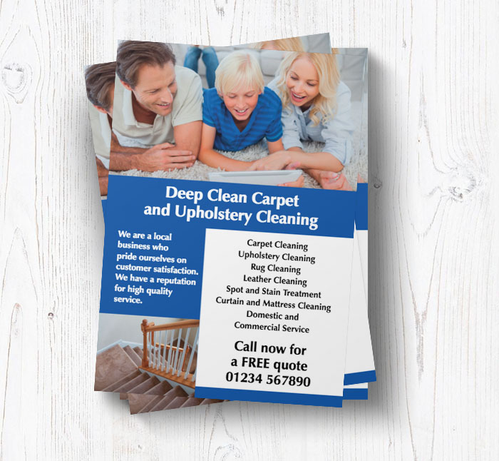 upholstery cleaning leaflets