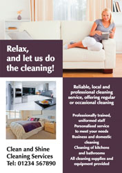 clean home leaflets