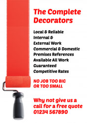 red paint roller leaflets
