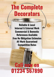 paint tin and brush leaflets