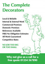 painting man sketch leaflets