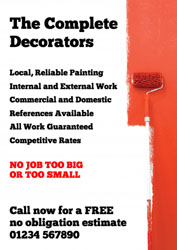 painting wall red leaflets