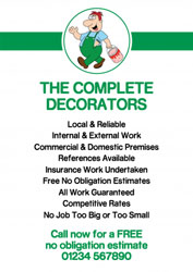 cartoon decorator leaflets