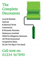 green paint roller leaflets