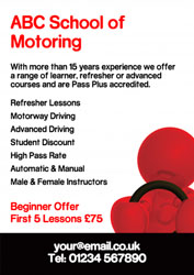 red and black driving leaflets