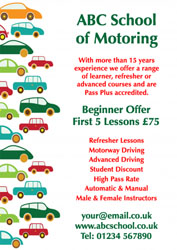 multi coloured cars leaflets