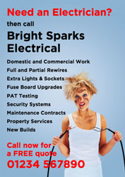 need an electrician leaflets