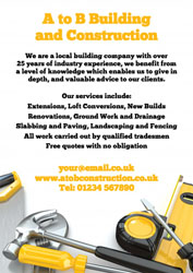 building and construction leaflets