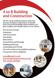 red and black building leaflets