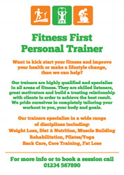 personal trainer leaflets