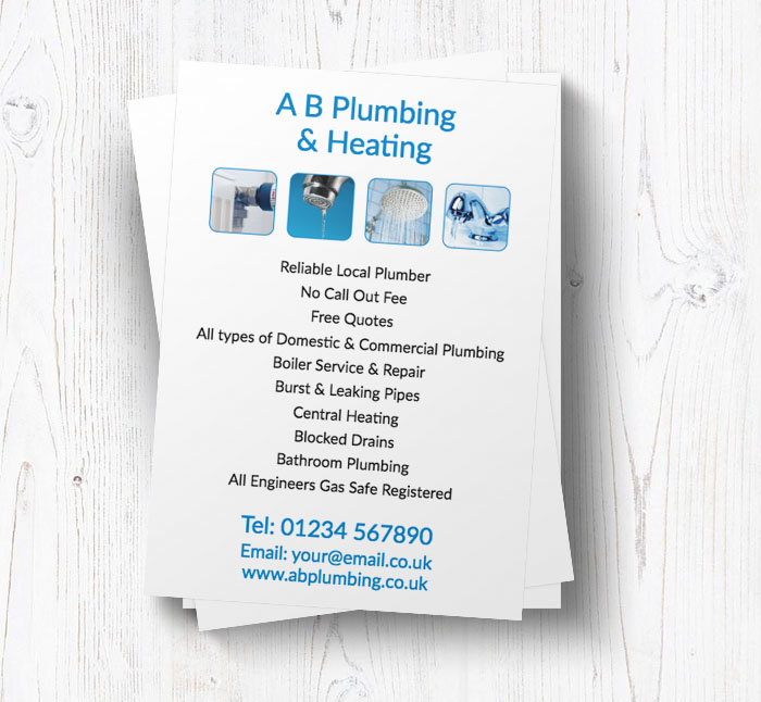 reliable local plumber leaflets