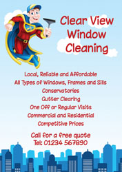 superhero window cleaner leaflets