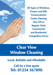 clean windows leaflets