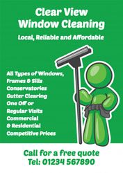 green window cleaner leaflets