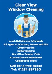 friendly window cleaner leaflets