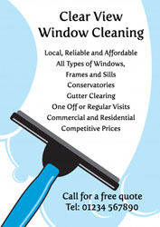 window washer leaflets
