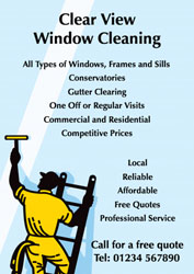 window cleaning ladder leaflets
