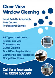circles window cleaning leaflets