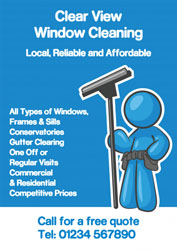 blue window cleaning leaflets