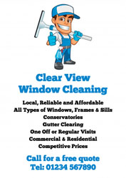 thumbs up window cleaner leaflets