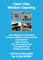 four squares window cleaner leaflets