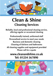 cleaning equipment leaflets