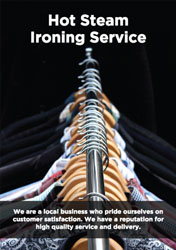 ironing service flyers