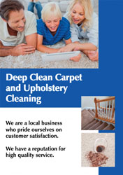 upholstery cleaning flyers