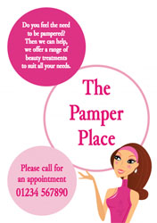 beauty salon flyers