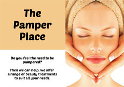 face massage flyers