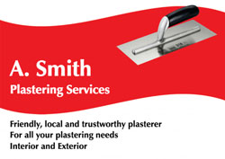 red plastering flyers