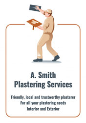 double sided plastering flyers
