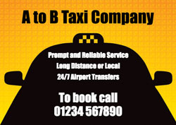 taxi silhouette flyers