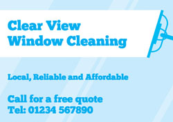 traditional window cleaner flyers