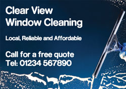 double sided window cleaner flyers