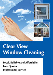 gleaming window cleaning flyers