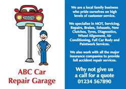 car mechanic flyers