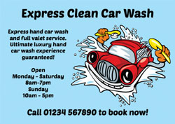 hand car wash flyers